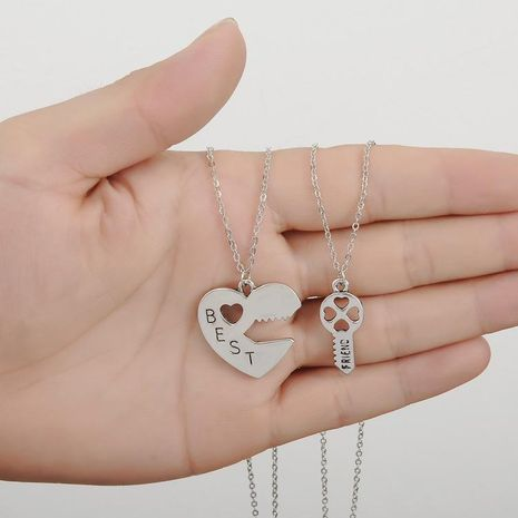 Valentine's Day couple necklace wholesale love stitching necklace NHBO193591's discount tags