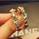Boutique Korean fashion OL exquisite fashion small chrysanthemum simple earrings NHSC193678