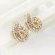 Boutique Korean Fashion Flash Diamond Water Drop Pearl Stud Earrings NHSC193677