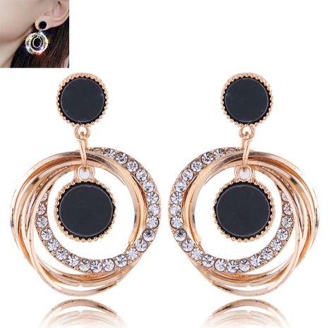 Moda metal flash diamante simples pendientes multicírculo NHSC193673's discount tags