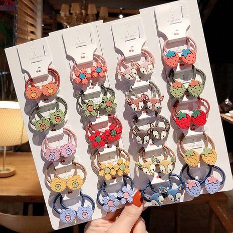 Coréen mignon fleur filles bébé cravate cheveux petite corde en caoutchouc NHCQ267359's discount tags