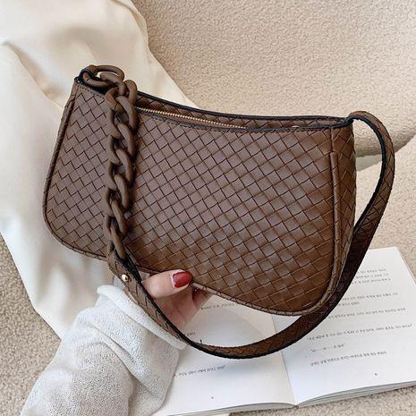 Herbst neue trendige Modekette Schulter Messenger gewebte Baguette Achsel Tasche NHLH267375's discount tags