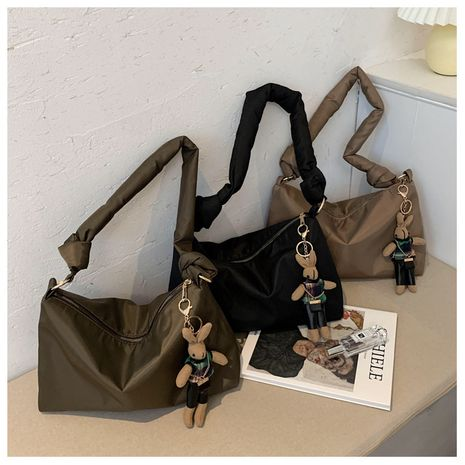 Women's one-shoulder big new trendy fashion nylon hand wild underarm bag NHLH267388's discount tags
