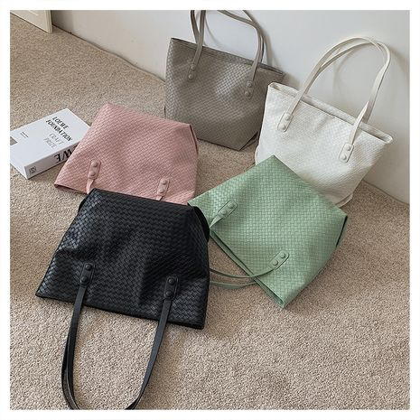 large-capacity new trendy fashion woven one-shoulder underarm portable tote bag NHLH267393's discount tags
