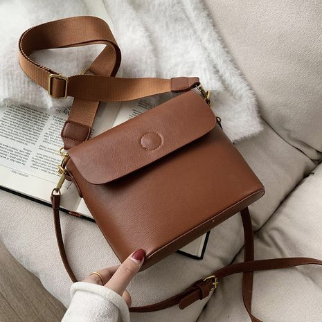 Casual all-match small new trendy fashion shoulder broadband messenger bucket bag NHLH267400's discount tags