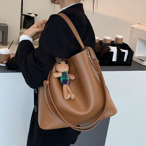 Single shoulder retro new trendy fashion large-capacity messenger wild bucket bag NHLH267405's discount tags