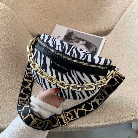 new trendy messenger wild Korean fashion zebra pattern chest waist bag for women NHLH267408's discount tags