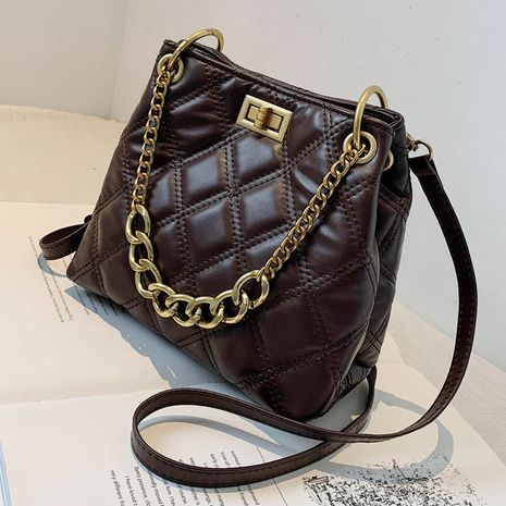 new trendy fashion chain messenger ladies bucket wild rhomboid embroidery thread shoulder bag NHLH267411's discount tags