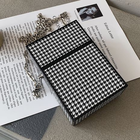 autumn new trendy fashion messenger wild chain small square bag NHLH267422's discount tags