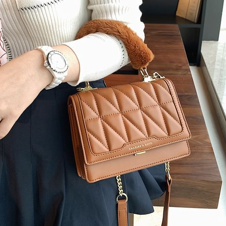 new trendy fashion wild one-shoulder messenger portable small square bag NHLH267426's discount tags