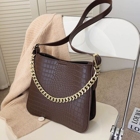 Autumn small new trendy fashion wild single shoulder messenger chain bucket bag NHLH267436's discount tags