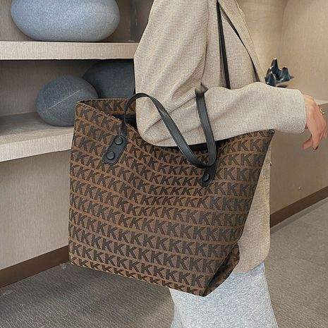 Simple ladies one-shoulder new trendy fashion large-capacity versatile portable tote bag NHLH267443's discount tags