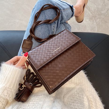new trendy autumn retro one shoulder messenger all-match small square bag NHLH267446's discount tags