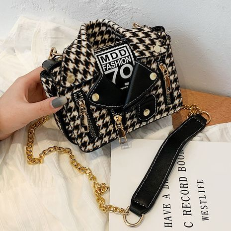 new trendy fashion messenger wild chain single shoulder small square bag NHLH267453's discount tags