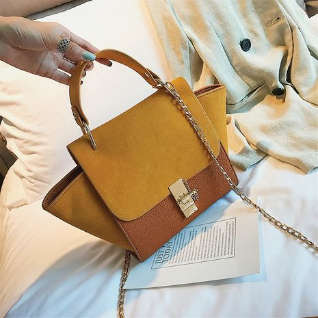 autumn new chain hand single shoulder Korean wild messenger hit color wings bag NHLH267455's discount tags