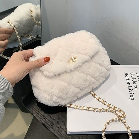 Autumn and winter new hairy small square bag NHLH267462's discount tags