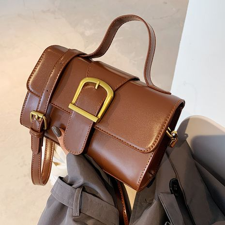 einfache tragbare kleine neue trendige Mode Retro Single Shoulder Messenger Bag NHLH267505's discount tags