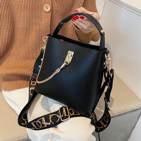 autumn new trendy fashion casual wild messenger bucket bag NHLH267518's discount tags