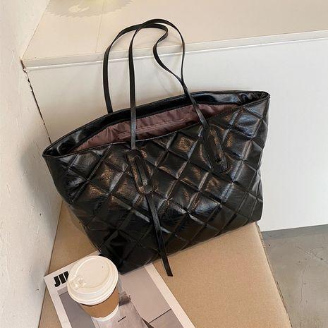 Diamond texture large-capacity single shoulder bag  NHJZ267543's discount tags