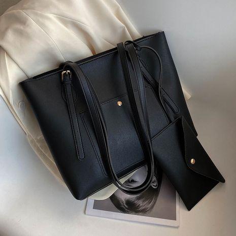 simple tote wave fashion texture shoulder bag  NHJZ267550's discount tags