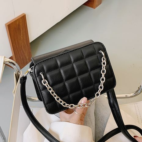 one-shoulder embroidery thread crossbody all-match small square bag NHJZ267563's discount tags
