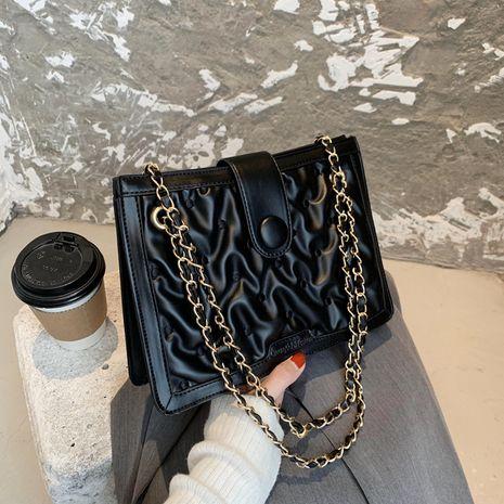 ladies popular texture fashion fold small square bag NHJZ267570's discount tags