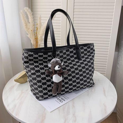 All-match trendy fashion new large-capacity canvas shoulder portable women's tote bag NHJZ267582's discount tags