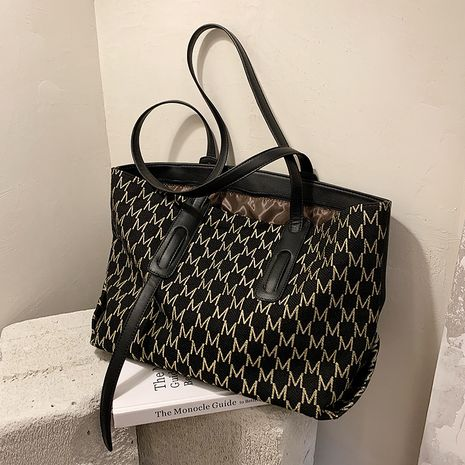 Fashion new autumn fashion large capacity shoulder simple tote bag NHTC267605's discount tags