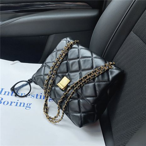 new trendy autumn small simple one shoulder messenger rhombus chain bag NHTC267606's discount tags