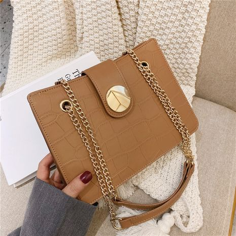 Autumn new trendy fashion large capacity shoulder simple Korean chain niche tote bag NHTC267617's discount tags
