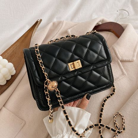 Lingge chain small new trendy autumn messenger fashion small square bag NHTC267632's discount tags
