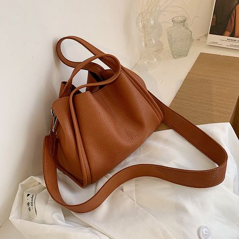 Simple ladies portable small autumn new trendy fashion shoulder messenger tote bag NHTC267635's discount tags
