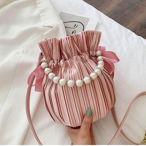nueva moda de verano perla hombro mensajero salvaje bolso de cubo NHTC267646's discount tags