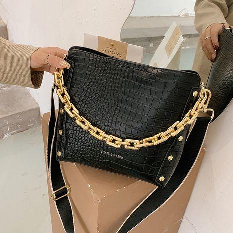autumn new crocodile pattern Korean shoulder messenger small acrylic chain handbag  NHGA267709's discount tags