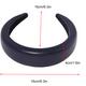 PU leather thickened sponge headband net wide-sided hair accessories NHQC267719
