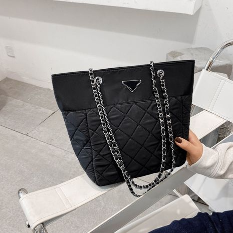 new nylon fabric wild  fashion rhombus simple handbag NHJZ267976's discount tags