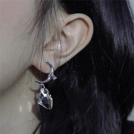 Korean crystal pendant retro ear clip without pierced  NHYQ267754's discount tags