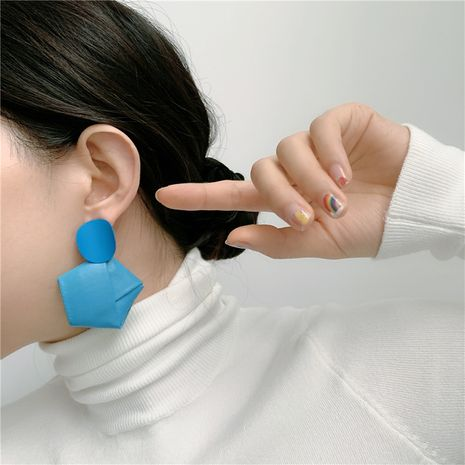 Korea's new fashion handmade leather winding blue earrings  NHYQ267757's discount tags