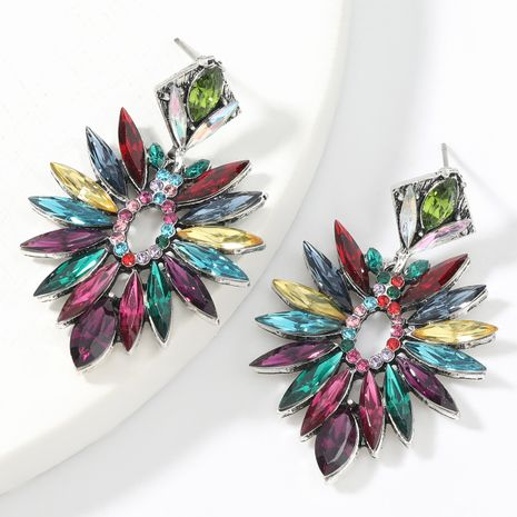 Fashion colored diamond  alloy diamond-studded acrylic geometric earrings  NHJE267787's discount tags