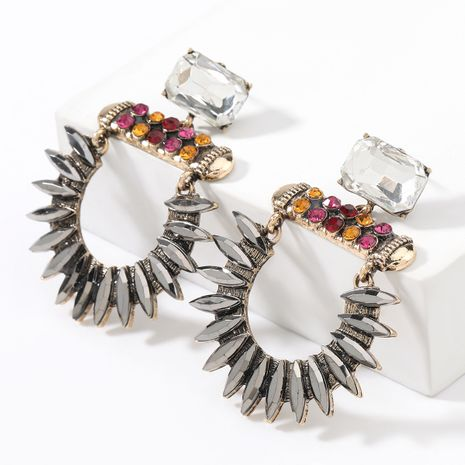 new  alloy diamond-studded acrylic geometric earrings NHJE267792's discount tags