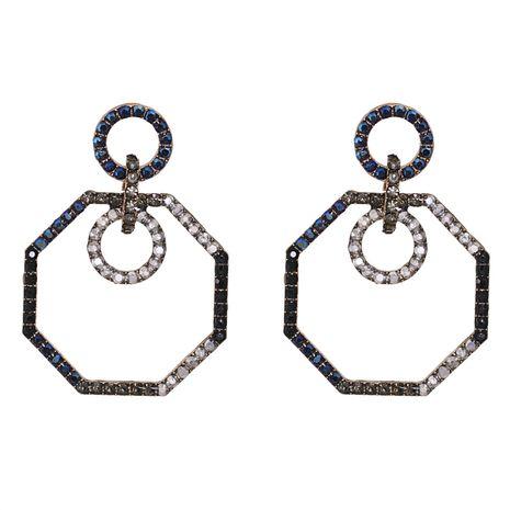 retro geometric octagonal diamond exaggerated earrings wholesale NHJJ267812's discount tags