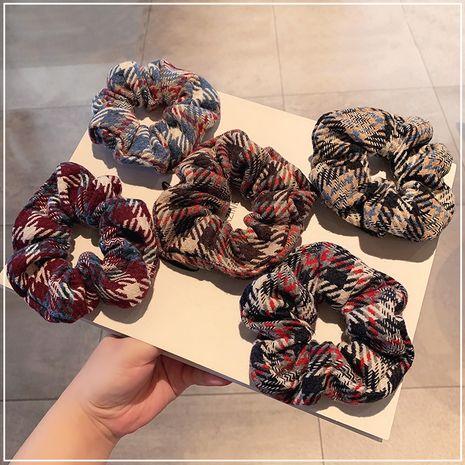 Chouchous pour cheveux gros intestin à carreaux bleus NHOF267840's discount tags