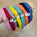 Candycolored woolen cute allmatch autumn and winter knotted hair band  NHUX267883