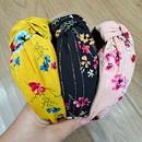 Korean floral bronzing simple fabrics widebrimmed hair bands NHUX267885