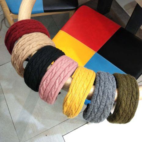Korean autumn and winter new twist knit flat wide-brimmed all-match headband  NHUX267890's discount tags