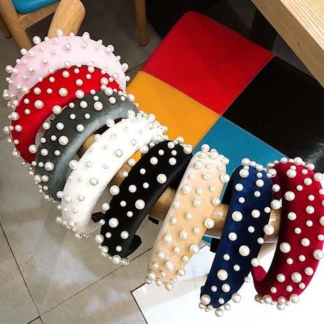 hot sale velvet pearl sponge exquisite luxury headband NHUX267891's discount tags