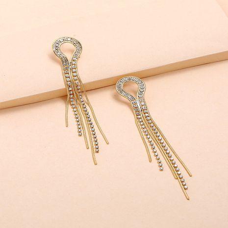 Pendientes delgados con borlas de todo fósforo nuevos coreanos de cadena de diamantes irregulares NHKQ267915's discount tags