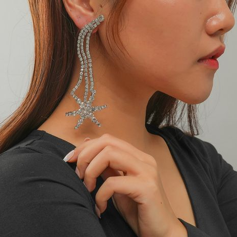 fashion all-match simple retro exaggerated diamond five-pointed star earrings NHKQ267916's discount tags