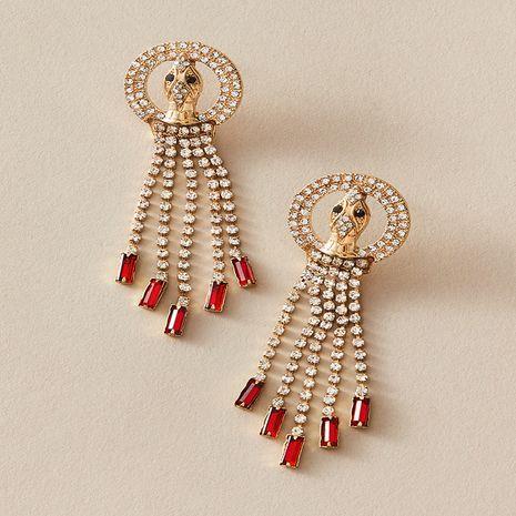 Pendientes de borla de diamantes geométricos exagerados retro de lujo ligero de moda NHKQ267921's discount tags