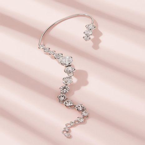 Clip de hueso de oreja de borla exagerada larga de moda coreana de una pieza en forma de arco NHKQ267932's discount tags